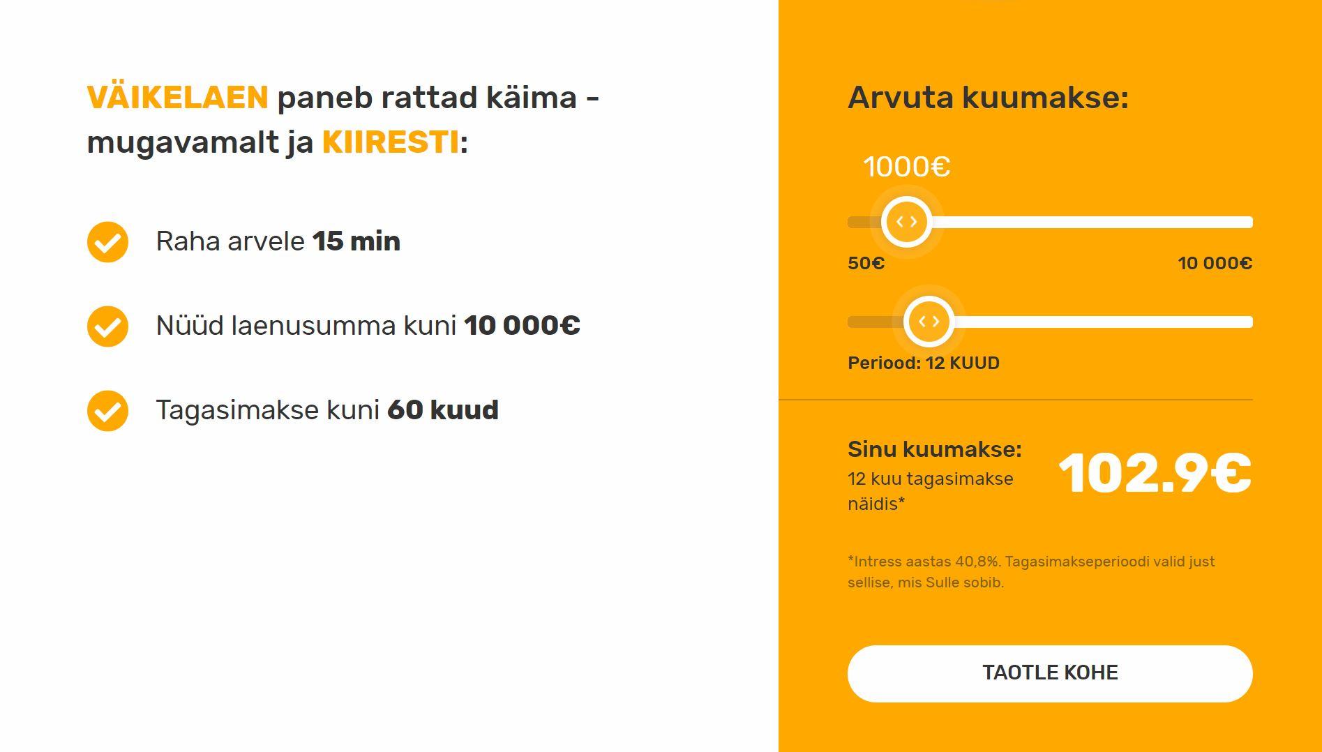 Credit24 hinnastamine