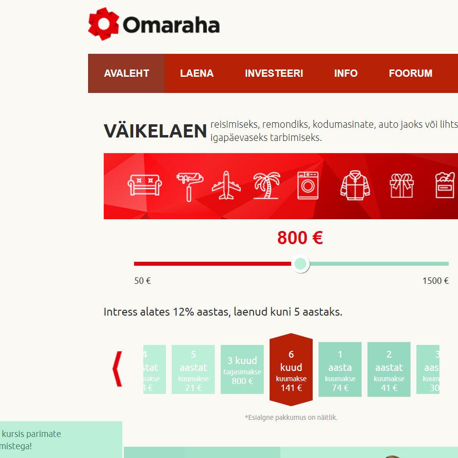 Omaraha laenud