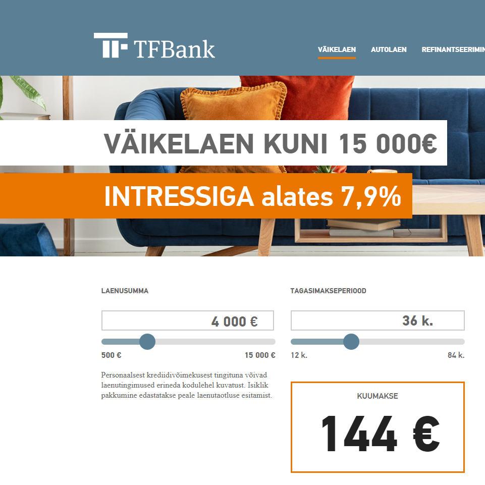 TF Bank väikelaen